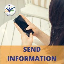 Admin App send info